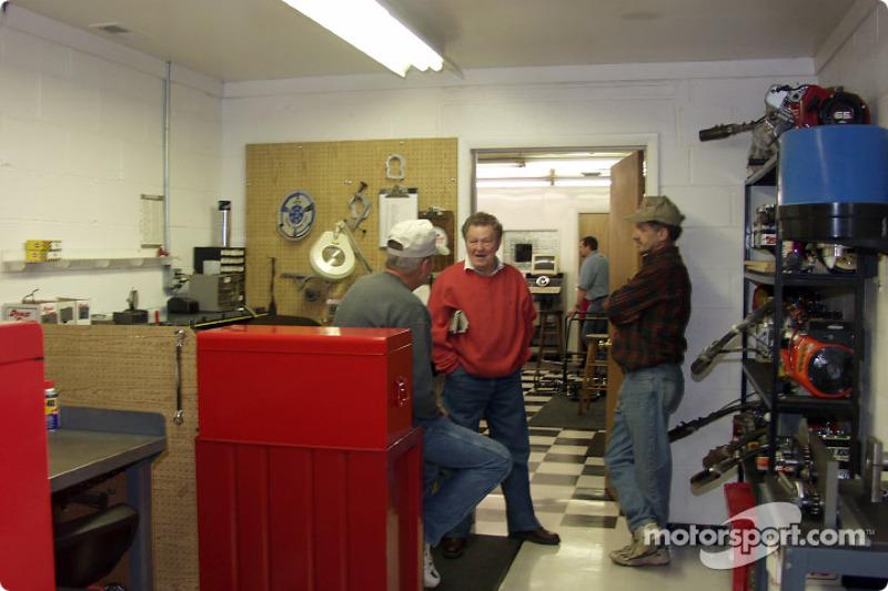 Robinson Speed Shop: G-Man (Graham D. Glassman) talks to customers at Robinson Speed Shop's open house