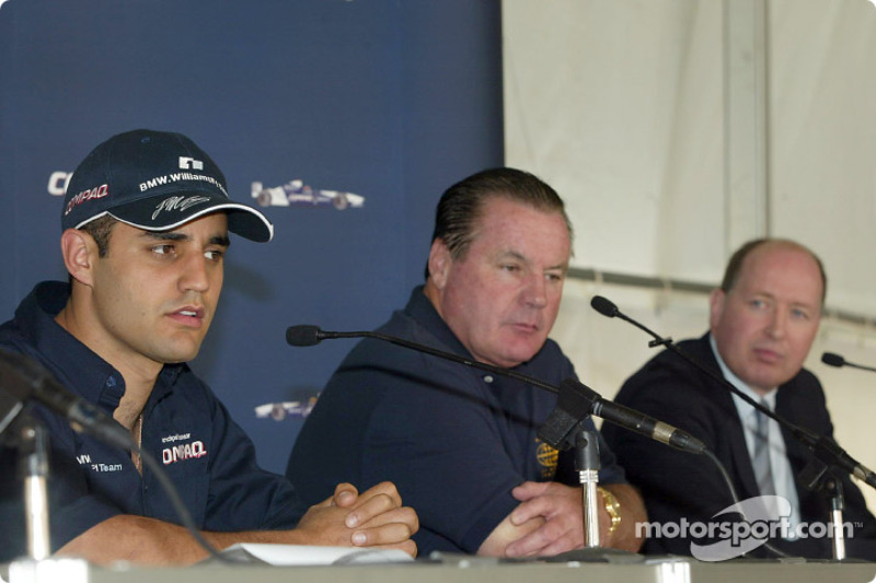 Compaq driver day: Juan Pablo Montoya and Alan Jones