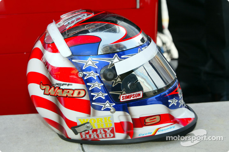 Jeff Ward's helmet