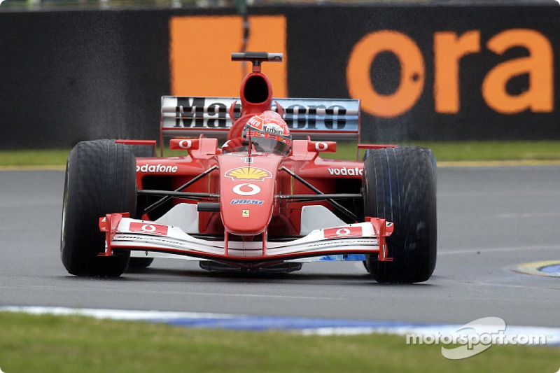 Michael Schumacher in the morning session