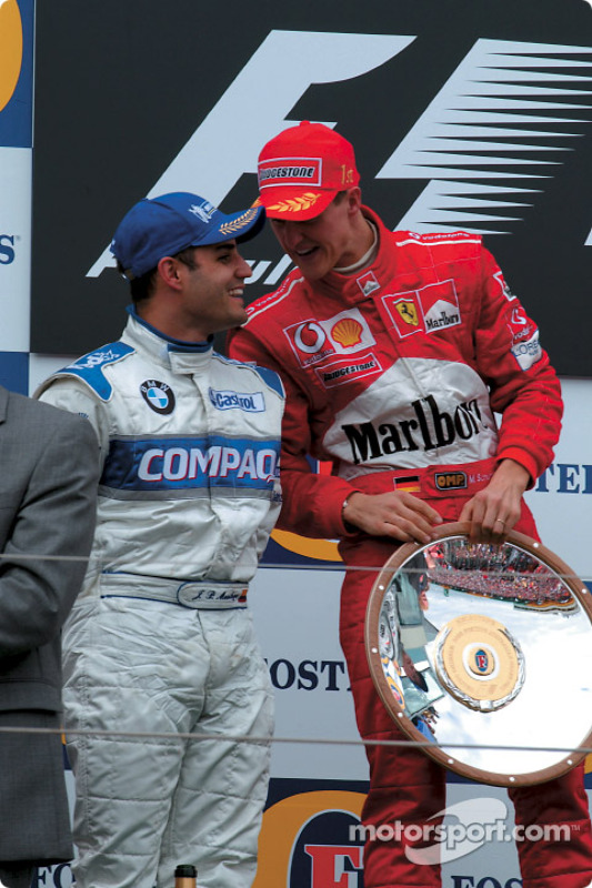 1. Michael Schumacher, Ferrari; 2. Juan Pablo Montoya, Williams
