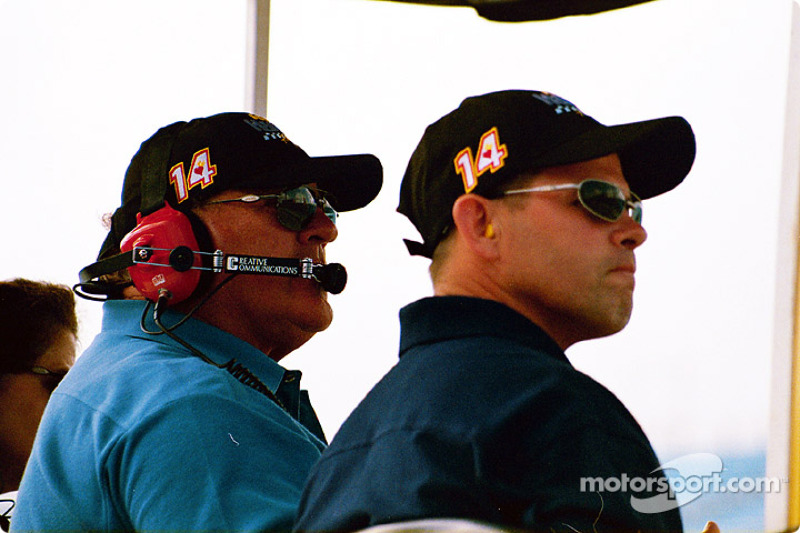A.J. Foyt and Donnie Beechler