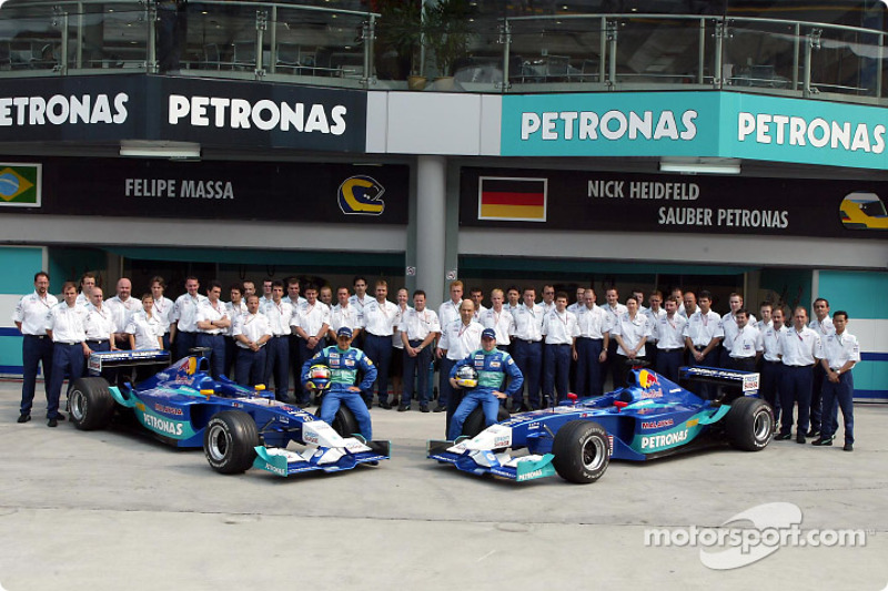 Felipe Massa, Nick Heidfeld et l'équipe Sauber