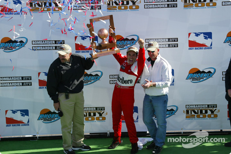 Race winner Helio Castroneves