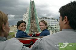 Visite à Hopi Hari´s Park: Felipe Massa et Nick Heidfeld