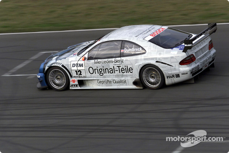 Peter Dumbreck driving the Mercedes-Benz CLK-DTM 2001, entered by the Original-Teile AMG-Mercedes te