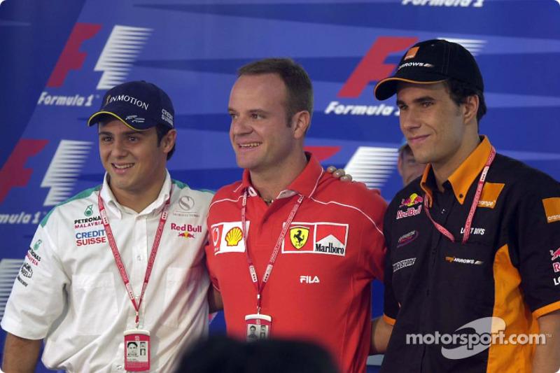 Conférence de presse du jeudi : Felipe Massa, Rubens Barrichello et Enrique Bernoldi