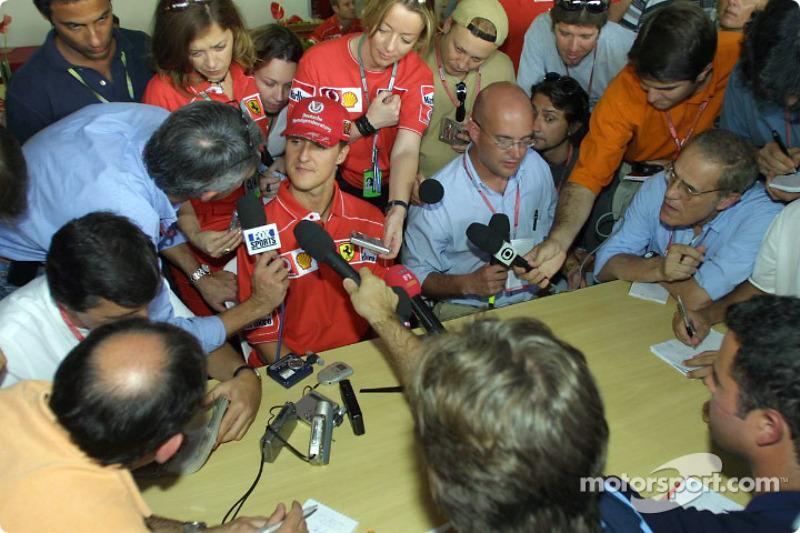 Interview time for Michael Schumacher