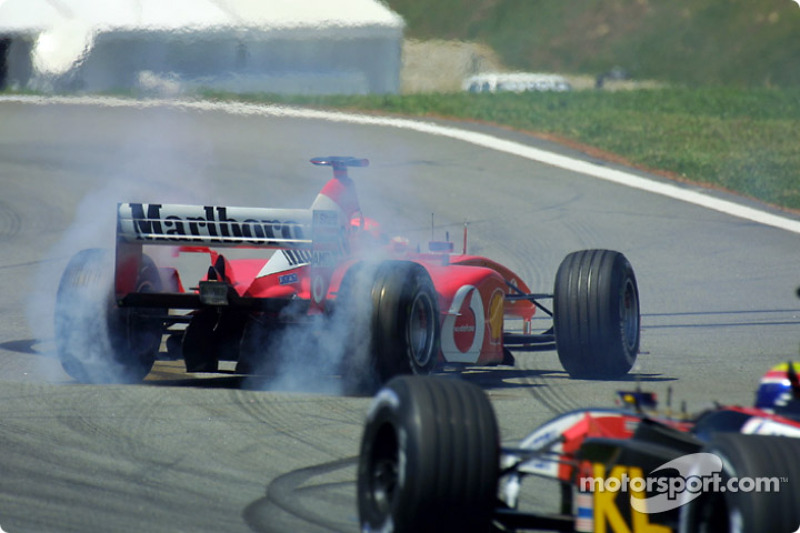 Michael Schumacher spinning