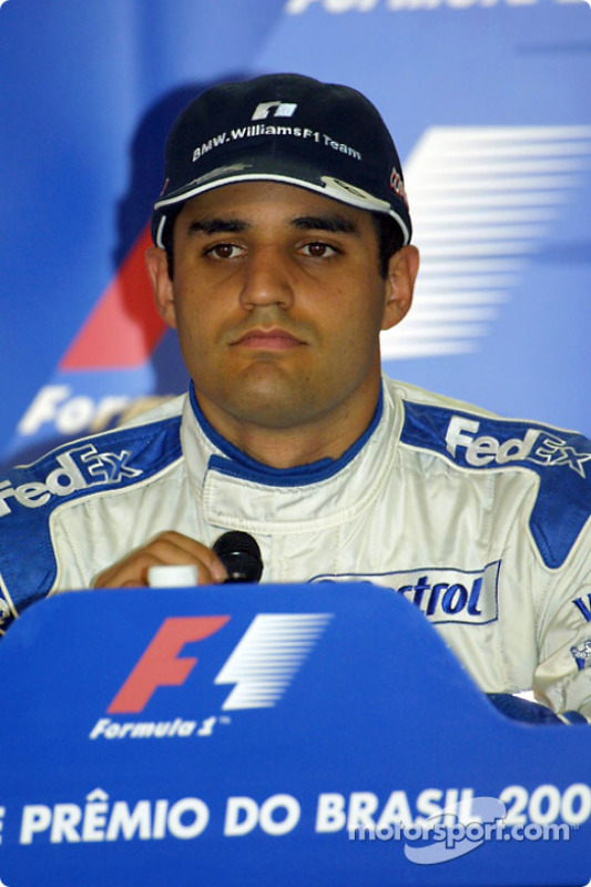 Press conference: pole winner Juan Pablo Montoya