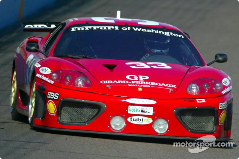 Bill Auberlen captured the GT pole in the #33 Ferrari 360 GT during qualifying