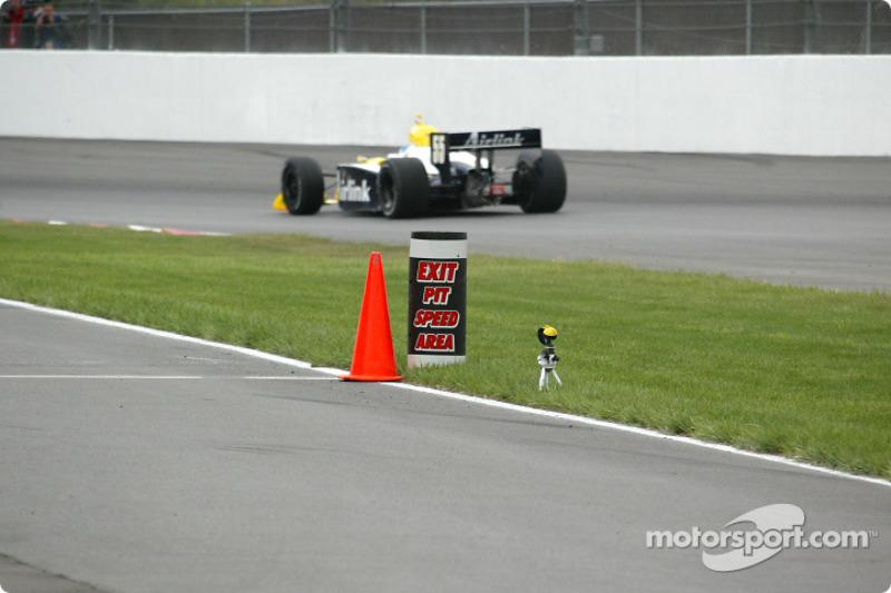 The Exit pit speed area marker