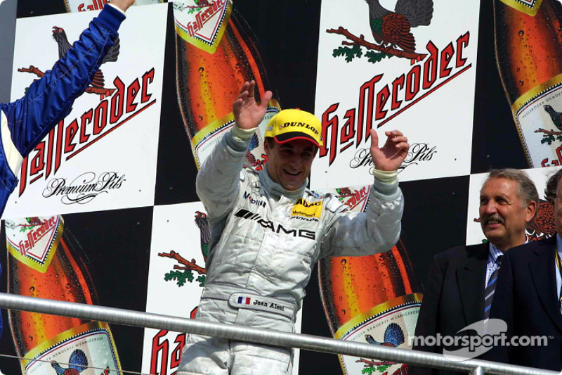 The podium: Jean Alesi