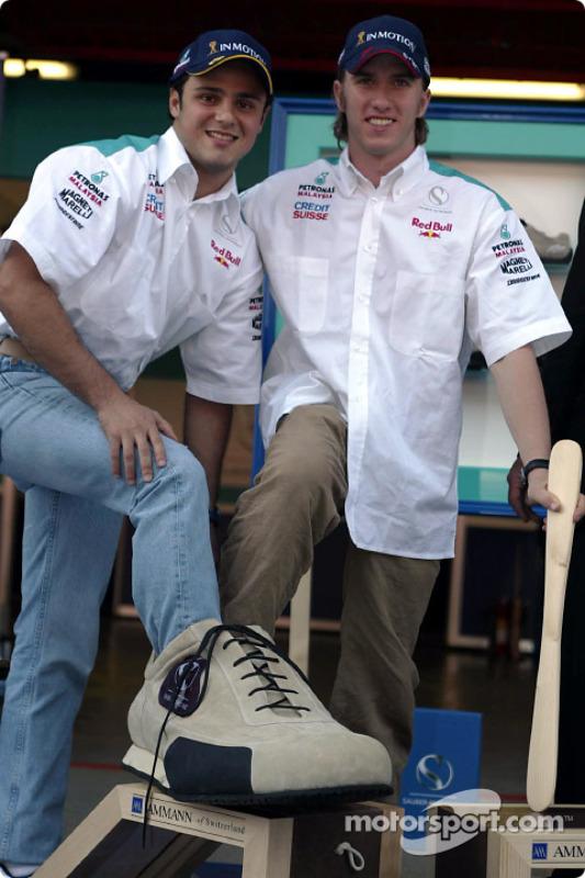 Sociedad entre Sauber y Ammann de Suiza: Felipe Massa and Nick Heidfeld