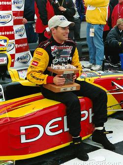 Scott Sharp resting after a tough win