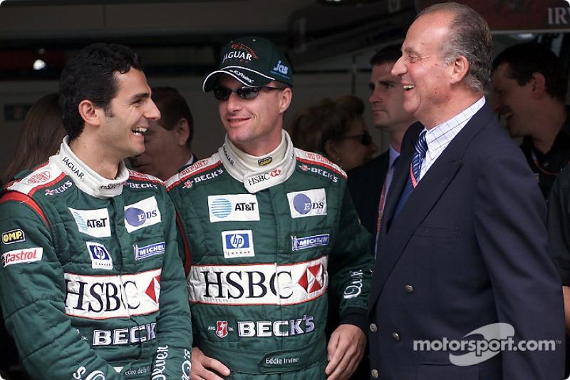 Pedro de la Rosa, Eddie Irvine and King Juan Carlos
