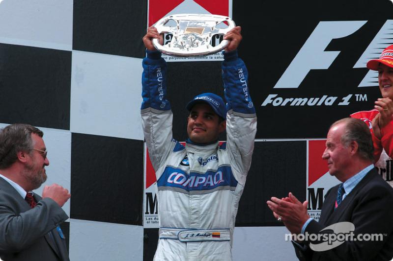 Juan Pablo Montoya on the podium