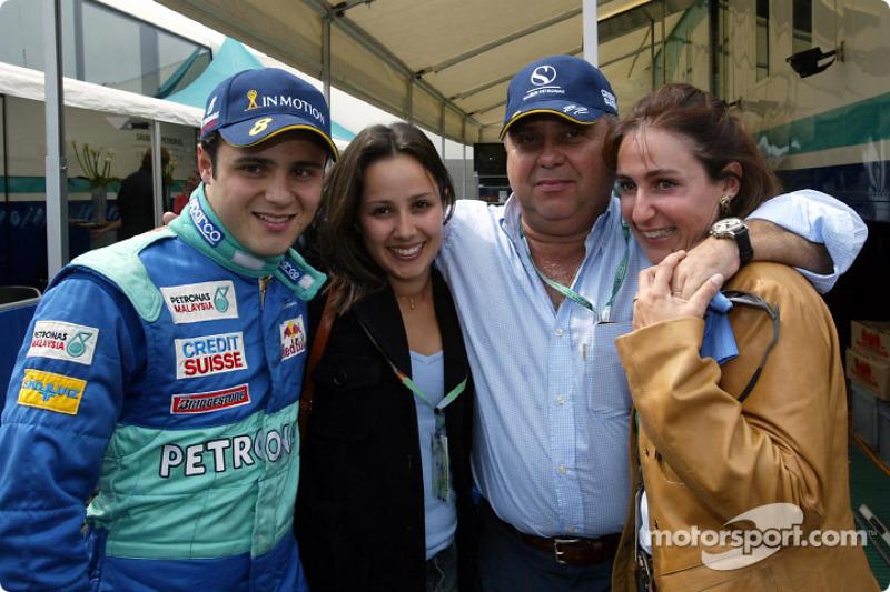 Felipe Massa celebrating his birthday with his girlfriend and family