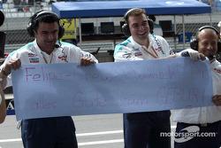 Message from Team Sauber crew members