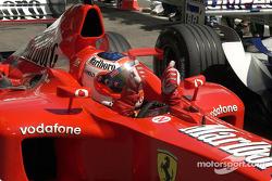 Pole winner Rubens Barrichello