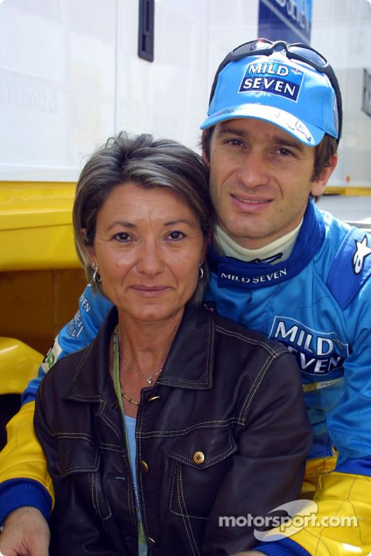Jarno Trulli y su mamá