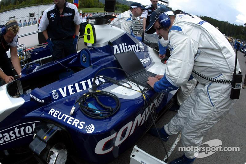 Equipo Williams-BMW en la parrilla