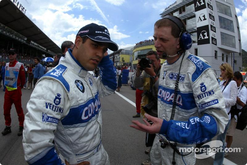 Juan Pablo Montoya on the grid