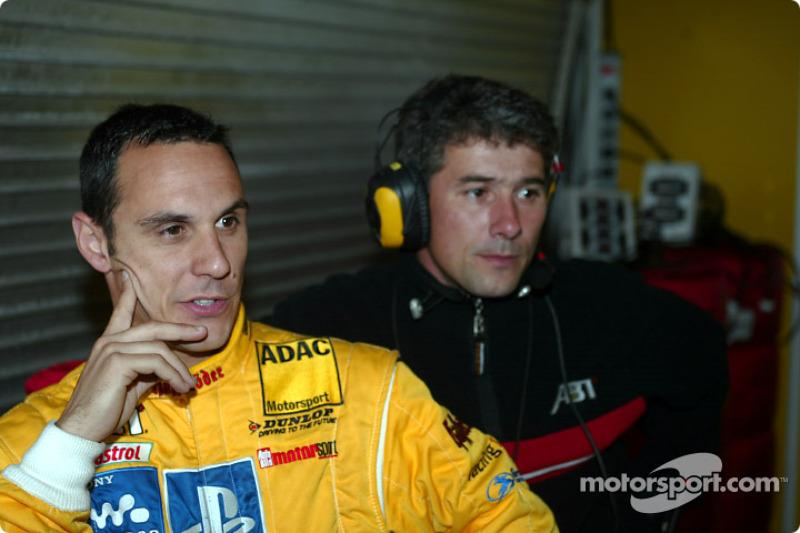 Laurent Aiello y el ingeniero de carrera, Ludovic Lacroix