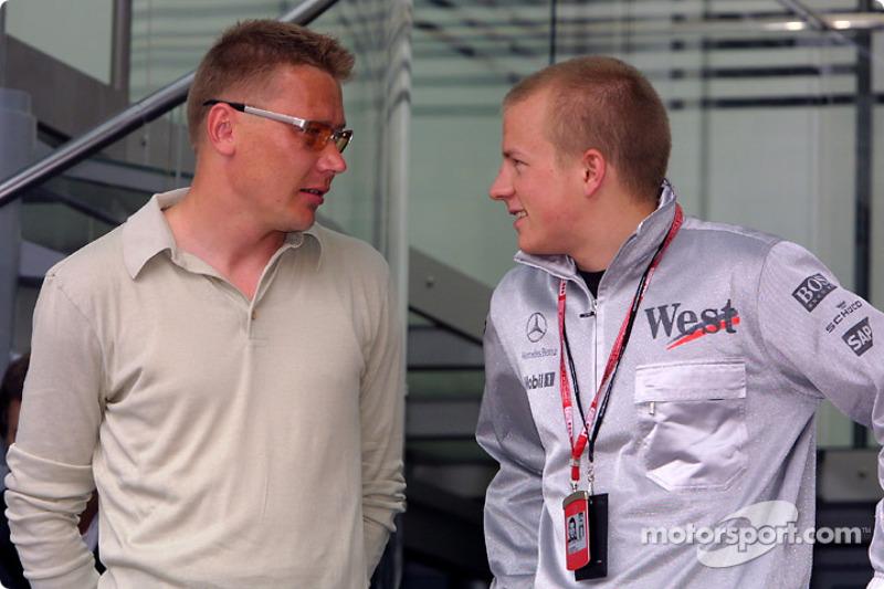 Mika Hakkinen y Kimi Raikkonen