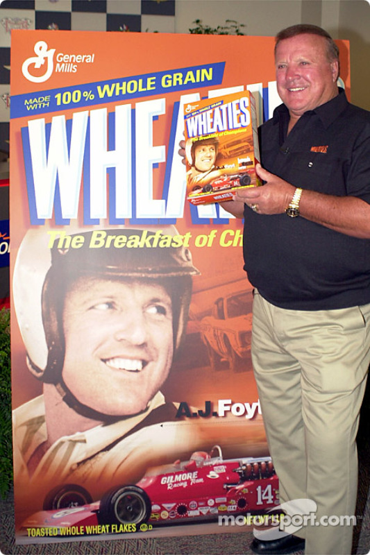 Wheaties honors A.J. Foyt