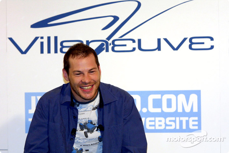 Jacques Villeneuve at his traditional Montreal press conference, held at the Newtown, his restaurant/nightclub