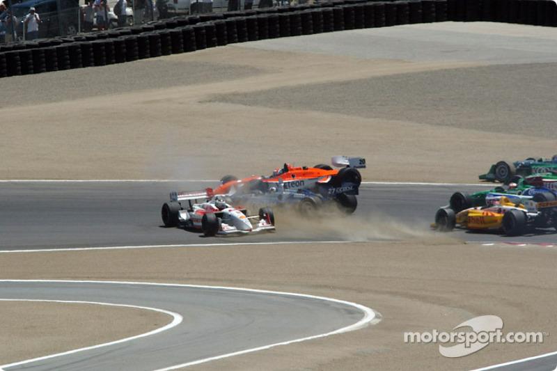 First corner: Michel Jourdain Jr. in trouble