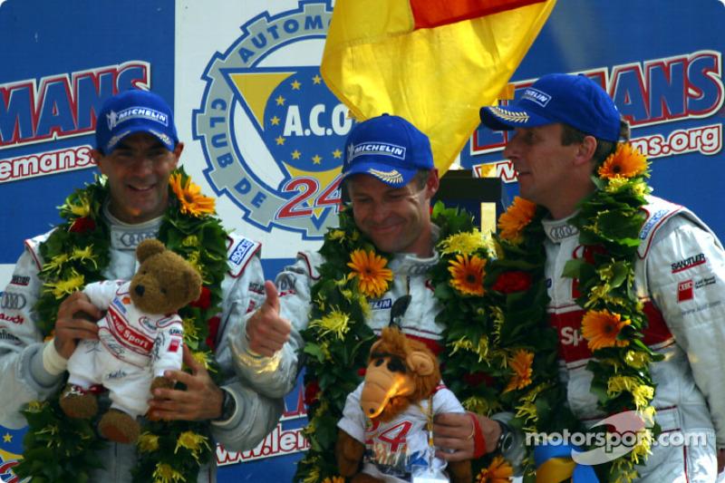 2002: Frank Biela, Tom Kristensen, Emanuele Pirro