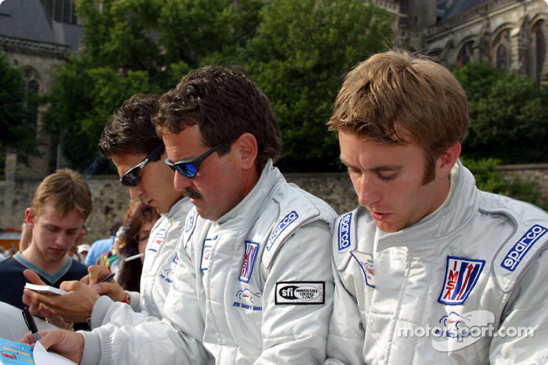 Timo Bernhard, Lucas Luhr y Kevin Buckler