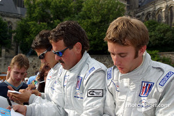 Timo Bernhard, Lucas Luhr and Kevin Buckler