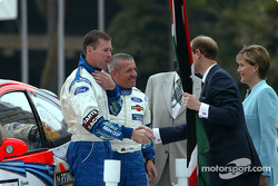 Colin McRae and co-driver Nicky Grist with Prince Edward and his wife
