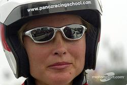 Kim Alexis with helmet