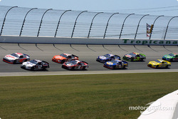 Sterling Marlin and Ryan Newman leading the field
