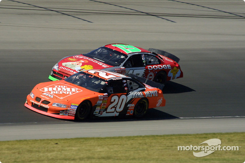 Tony Stewart y Jeremy Mayfield