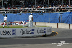 The start: Emanuele Pirro taking the lead in front of Johnny Herbert