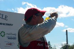Race winner Tom Kristensen