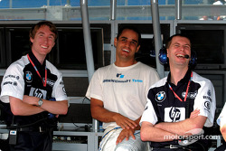 Juan Pablo Montoya having fun