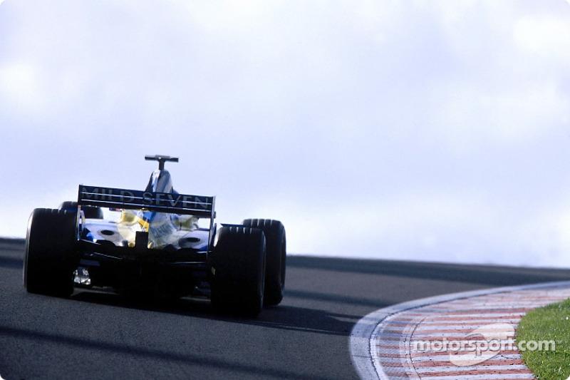 Jenson Button durante la sesión de calentamiento