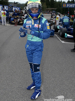 Felipe Massa on the starting grid