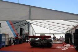 Doran Lista Racing paddock area