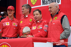 Presentación Shell: Jean Todt y Michael Schumacher
