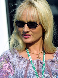 Olivier Panis' wife