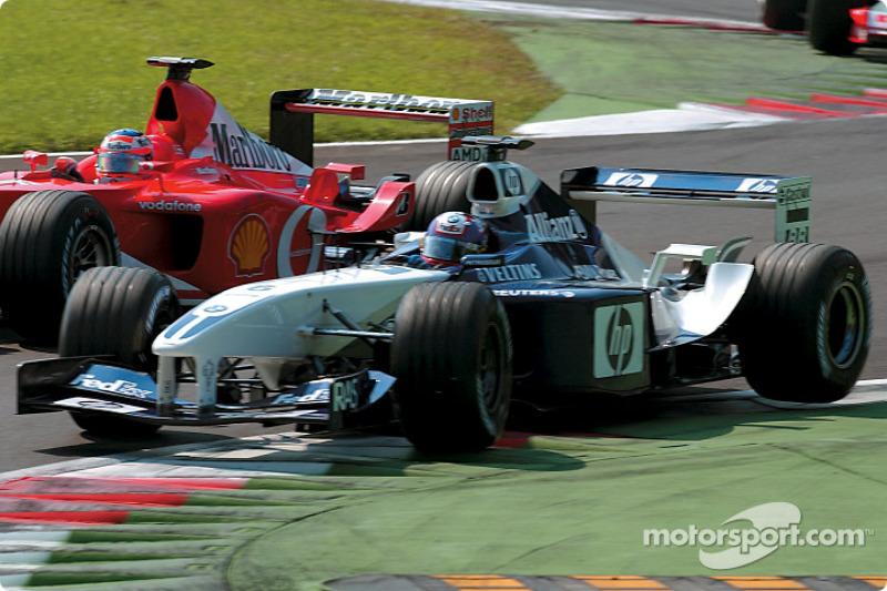 The start: Juan Pablo Montoya in front of Rubens Barrichello