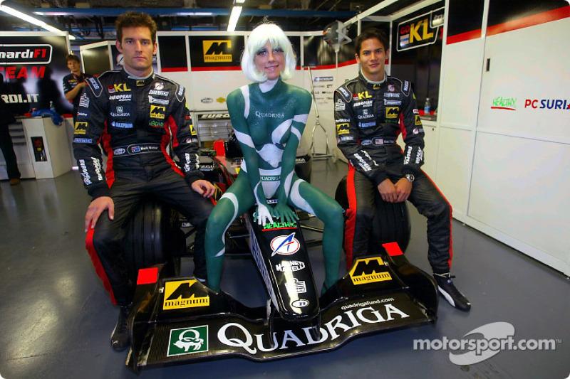 Mark Webber et Alex Yoong