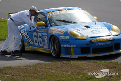 One of The Racer's Group Porsche GT3 R in trouble
